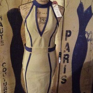 WOW couture Dresses - Halter Contrast Trim Dress
